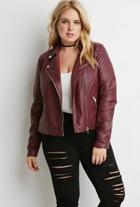 Quilted Jacket In Plus Size
