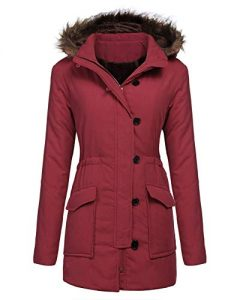 Red Plus Size Parka Jackets