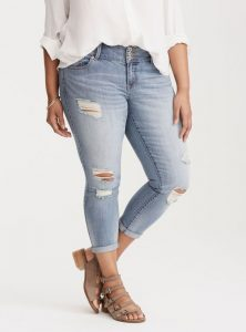 Ripped Plus Size Jeggings