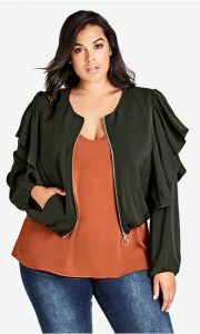 Short Plus Size Utility Jacket
