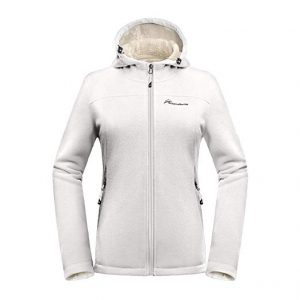 White Plus Size Fleece Jacket