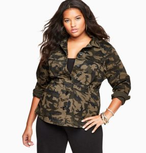 Women's Plus Size Fatigue Jacket