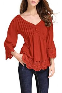 Women's Plus Size Lace Tops