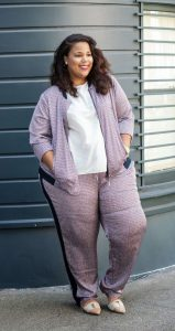 Women's Plus Size Sweat Suit Set