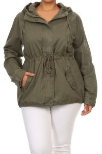Women's Plus Size Utility Jacket