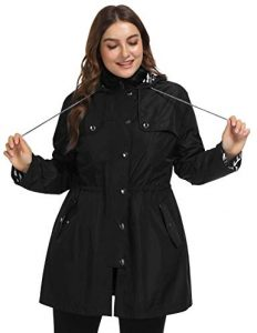 Women's Plus Size Windbreaker Jacket