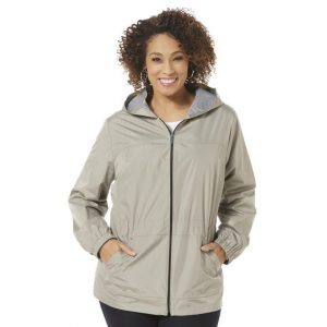 Womens Plus Size Windbreaker Jacket