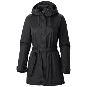 Belted Plus Size Rain Jacket