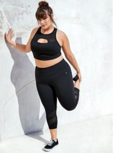 Black Flattering Workout Set Clothes For Plus Size