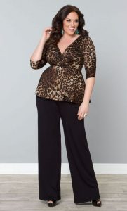 Black Palazzo Pants For Curvy Figure