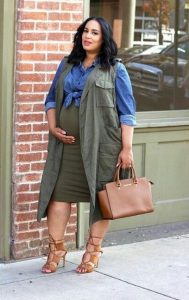 Camo Plus Size Maternity Coat