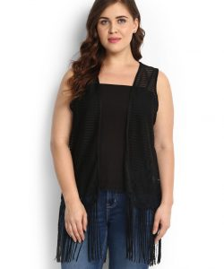 Fringed Plus Sized Shrug