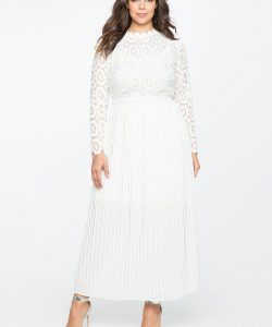 Full Sleeve White Dress Plus Size