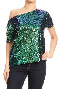 Glitter Tops For Plus Size
