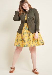 Green Plus Size Military Jackets