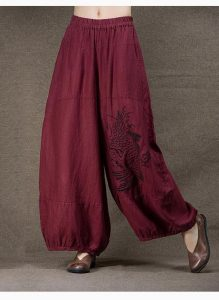 Linen Pants With Wide Leg Plus Size