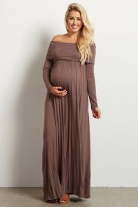 Long Sleeve Maternity Formal Dresses XXl