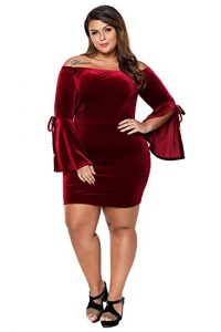 Long Sleeve Velvet Dress In XXL