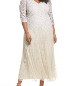 Long Sleeve White Lace Dress 5X
