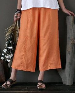 Over Sized Linen Pants Wide Leg