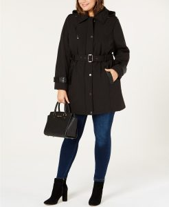 Plus Size Black Rain Jacket