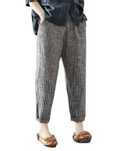 Plus Size Cotton Linen Pants