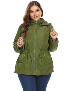 Plus Size Green Rain Jackets