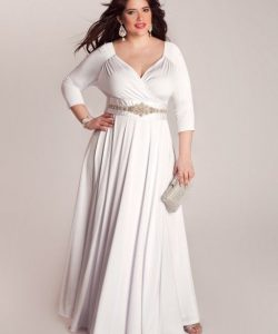 Plus Size Long Sleeve Wedding Dress
