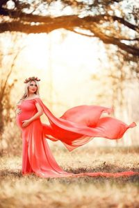 Plus Size Maternity Dress Photoshoot For Baby Shower