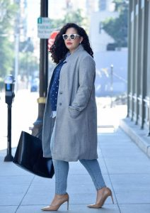 Plus Size Maternity Overcoat
