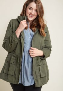 Plus Size Military Style Jackets