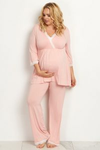Plus Size Nursing Pajamas Set