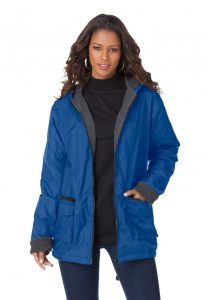 Plus Size Nylon Rain Jacket