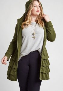 Plus Size Olive Green Jackets