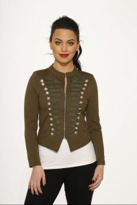 Plus Size Olive Military Jacket