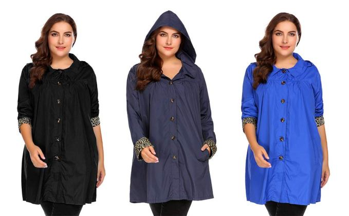 Plus Size Rain Jackets Women