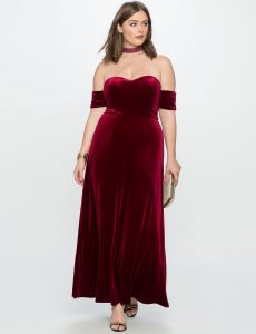 Plus Size Red Velvet Dresses