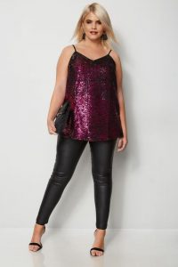 Plus Size Sequin Party Tops