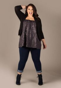 Plus Size Sequin Tops