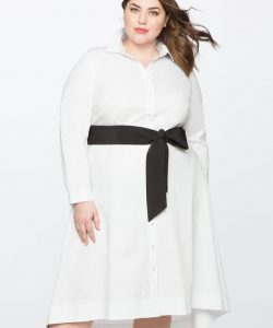 Plus Size White Dress With Long Sleeves