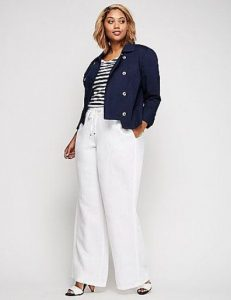 Plus Sized Linen Pants Wide Leg