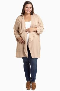 Plus Sized Maternity Coat