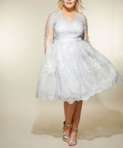 Silver Dress For Plus Size