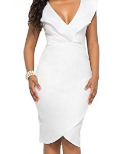 Simple White Dress For Plus Size