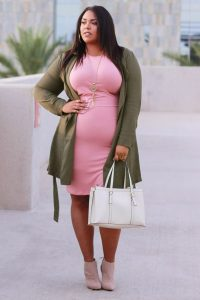 Trench Maternity Coat Plus Size
