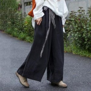 Wide Leg Linen Pants For Plus SizeWide Leg Linen Pants For Plus Size