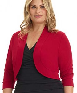 Women's Plus Size Red Shrug