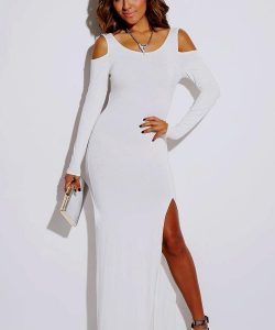 Women's Plus Size White Maxi Dress
