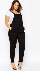 Black Plus Size Dungarees