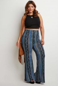 Extra Large Floral Flare Pants